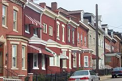 Common rowhouse scene in Lawrenceville