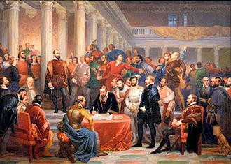 Compromise of Nobles - Compromise of nobles by Edouard de Bièfve, 1841