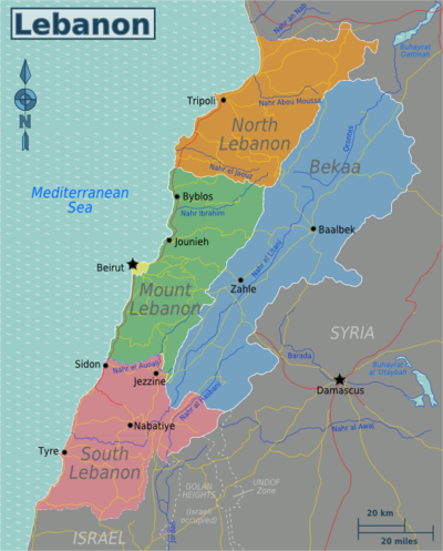 Regions of Lebanon