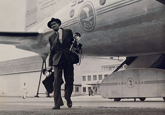 Lennart Nilsson - Nilsson in 1946 at the Bromma, Stockholm airport