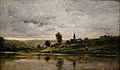 Les Bords de l'Oise by Charles-Francois Daubigny, c. 1873, oil on panel - Huntington Museum of Art - DSC05321.JPG