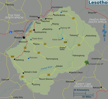 Lesotho-regio's map.png