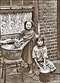 Lessive dans une rue de Londres au début du 20e siècle.jpg