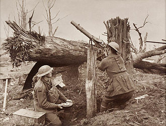 Lewis gun - Australian Soldiers firing at enemy aircraft during the First World War