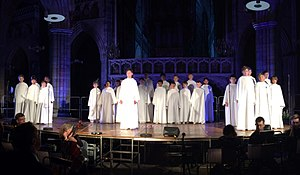 Libera (choir) - Image: Libera in concert (at Exeter, July 2015)