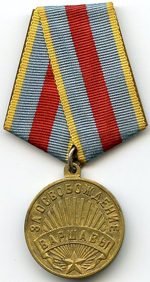 "Medal ""For the Liberation of Warsaw"" - Image: Liberation de Varsovie AVERS"