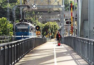 Lidingöbron - Image: Lidingoebanan bron