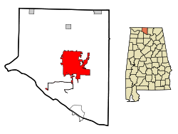 Limestone County Alabama Incorporated and Unincorporated areas Athens Highlighted.svg