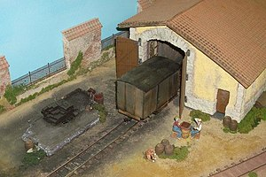 On30 gauge - Saint-Paul railway depot at Suisse Toy in Berne (Switzerland)