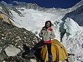 Lina Quesada Campo2 6.500 mts. del Everest, mayo de 2008.jpg