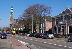 Heereweg, the main street in Lisse.