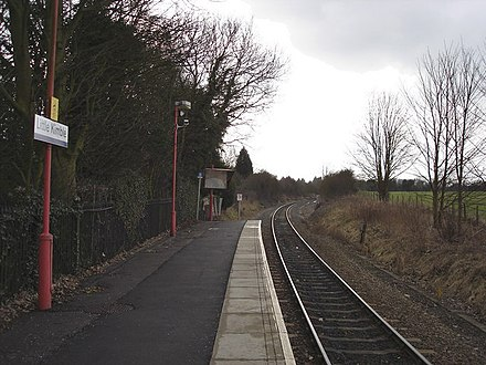 Little Kimble railway station, a typical rural village halt on the Aylesbury-Princes Risborough line Little Kimble railway station 1.jpg
