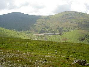 Foel-fras - Foel-fras (Left) and Llwytmor (Right) from the Drum ridge.