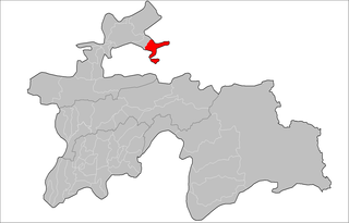 Location of Isfara District in Tajikistan