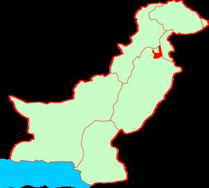 Location of Rawalpindi in Pakistan