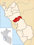 Location of the province Canta in Lima.svg