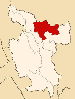 Location of Lamas in the San Martín Region