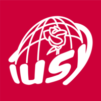 Logo der International Union of Socialist Youth,
