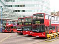 London buses of Arriva, London General and Metrobus in West Croydon Bus Station, London 27 June 2007.jpg