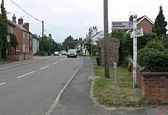 Looking along West End in Long Whatton