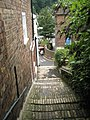 Looking down the steps from St Luke's, Ironbridge towards the High Street - geograph.org.uk - 1463267.jpg