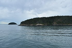 Looking roughly south to Decatur Island, James Island in the distance 01 (20276408790).jpg