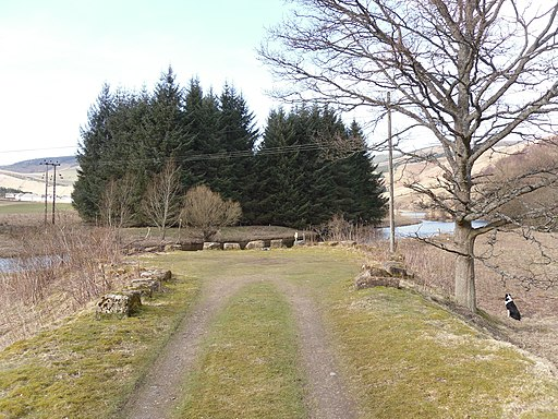 Looking to the site of the old Woodend Railway Bridge - geograph.org.uk - 1772888