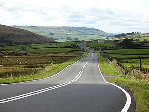 A59 road - A stretch of A59 between Skipton and Harrogate