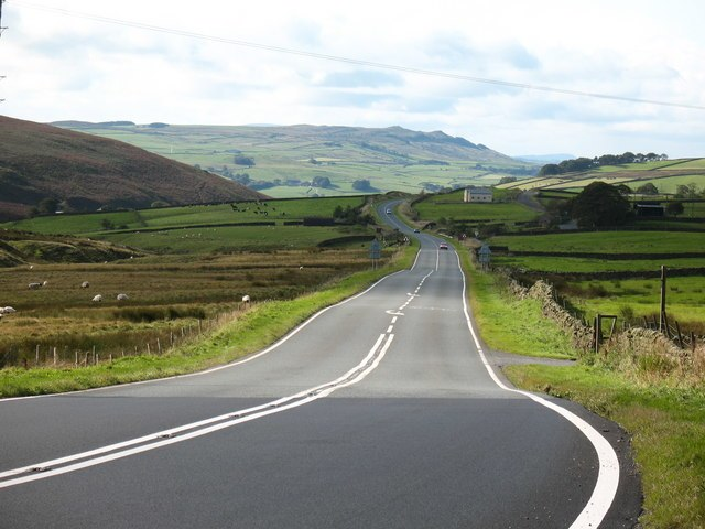 Looking west along A59 - geograph.org.uk - 1004362