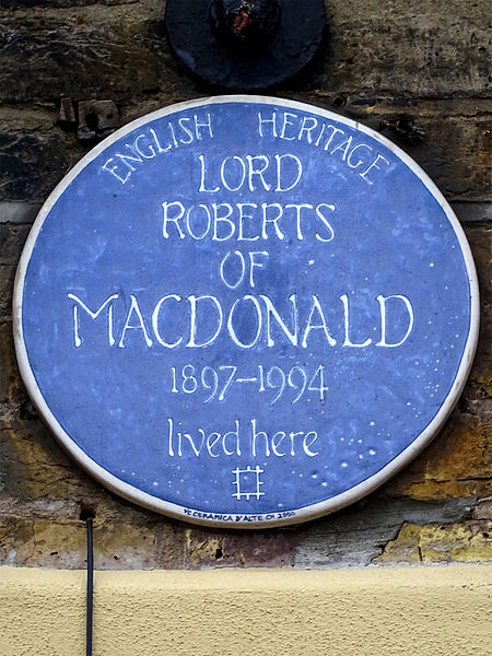 File:Lord Roberts of Macdonald (home made blue plaque).jpg