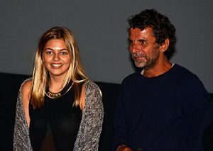 La Famille Bélier - Louane Emera and Éric Lartigau at a preview event.