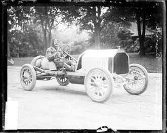 Louis Chevrolet - Louis Chevrolet in a Buick racer in Crown Point, Indiana, during the Cobe Cup Race in 1909.