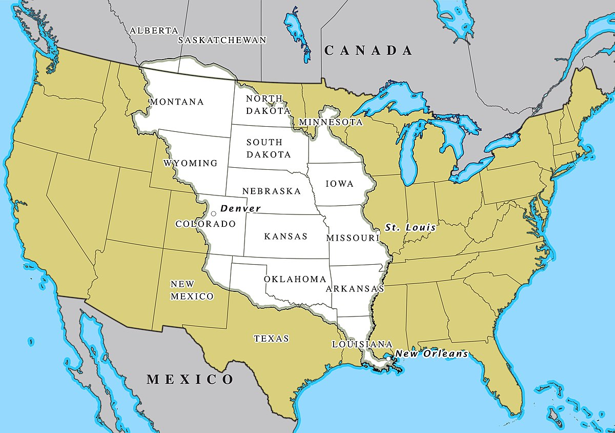 Map Of The Us After The Louisiana Purchase Louisiana Purchase   Wikipedia