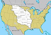 The Louisiana Purchase (shown in white)