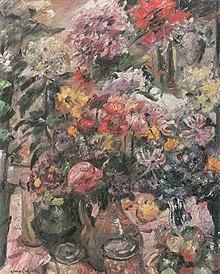 stillleben mit chrysanthemen und amaryllis 1922 belvedere wien lovis corinth