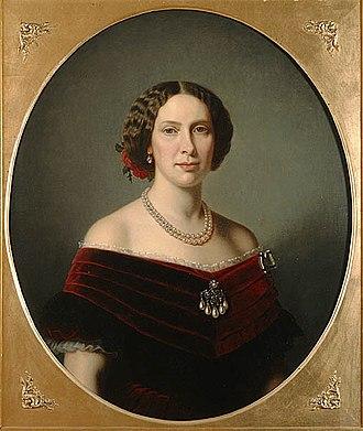 Amalia Lindegren - Image: Lovisa (Vilhelmina Fredrika Alexandra Anna Lovisa), 1828 71, drottning av Sverige