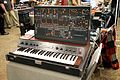 Low-Gain Electronics TTSH (ARP 2600 clone) and KORG PE-2000 - Knobcon 2014.jpg