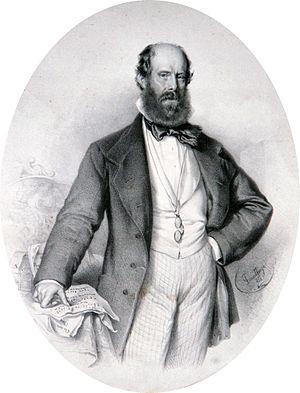 Luigi Ricci (composer) - Luigi Ricci, lithography by Adolf Dauthage
