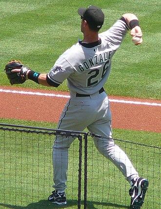 Luis Gonzalez (outfielder) - Gonzalez with the Marlins in 2008.