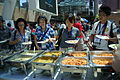 Lunch on Day 3 of Wikimania 2013, Chapters Village, Logo Square, Hong Kong Polytechnic University - 20130811-05.JPG