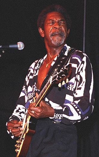 Luther Allison - Allison performing at the 1996 Riverwalk Blues Festival