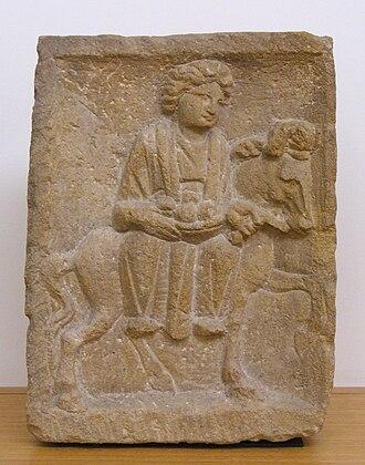 Dalheim Ricciacum - Relief of the Gallo-Roman goddess Epona, found at Dalheim