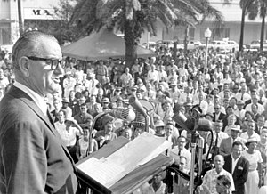 Hemming Park - Lyndon B. Johnson campaign speech at Hemming Park in 1960.