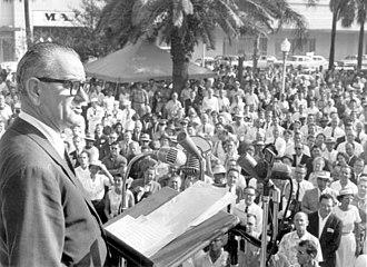 Hemming Park - Lyndon B. Johnson campaign speech at Hemming Park in 1960.