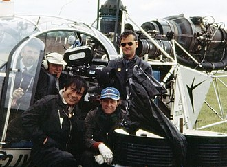 Von Richthofen and Brown - Camera crew (1970): Peter Peckowski and Peter Allwork in cockpit, Jimmy Murakami, Shay Corcoran and Lynn Garrison