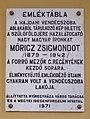 Móricz Zsigmond emléktábla, Városháza, 2017 Nyíregyháza.jpg