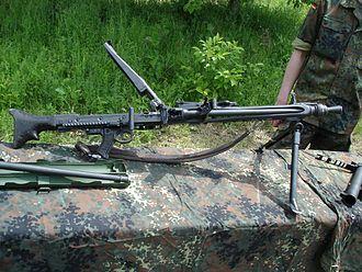 Rheinmetall MG 3 - MG 3 of the German Army.