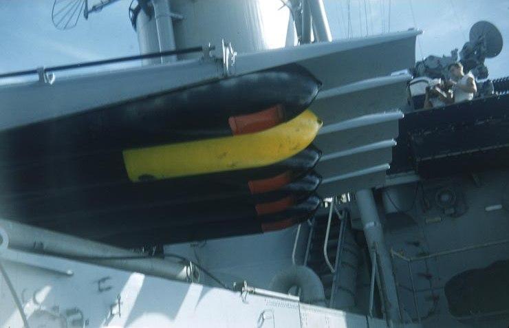 Mark 15 torpedoes aboard USS O'Brien (DD-725), circa 1953.
