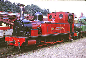 Dübs and Company -  Isle of Man Railway locomotive no. 15 Caledonia built in 1885 for the Manx Northern Railway as no. 4.  Seen here at Douglas station in 1969 in MNR colours
