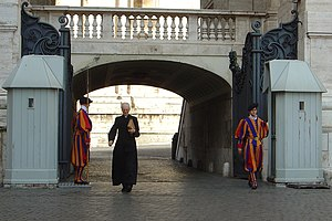 Vatican, prelate and Swiss guards